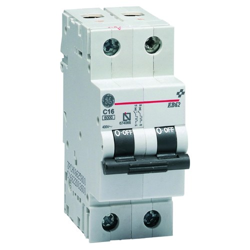 General electric magnetot rmico eb60 1p n 16a curva c 6ka for Interruptor magnetotermico tipos